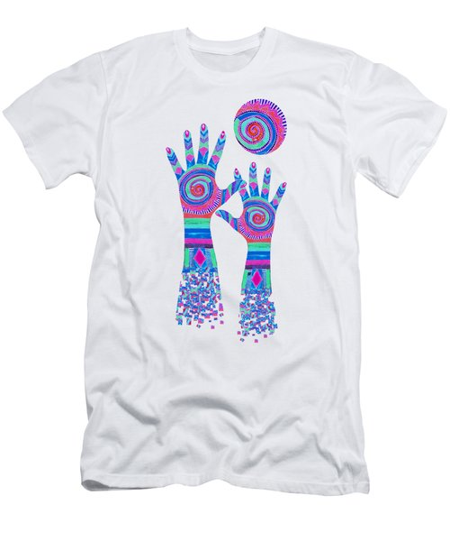 Aboriginal Hands Pastel Transparent Background Men's T-Shirt (Athletic Fit)