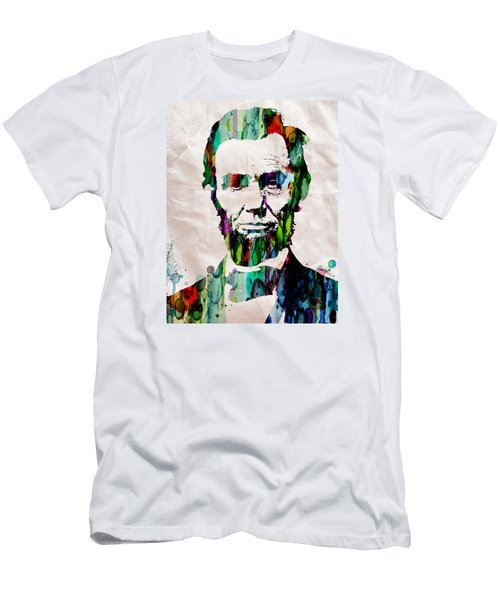 Abraham Lincoln Art Watercolor Men's T-Shirt (Athletic Fit)