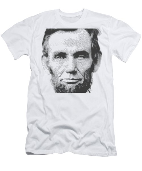 Abraham Lincoln - Parallel Hatching Men's T-Shirt (Athletic Fit)