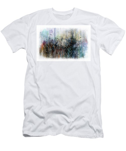 2f Abstract Expressionism Digital Painting Men's T-Shirt (Athletic Fit)