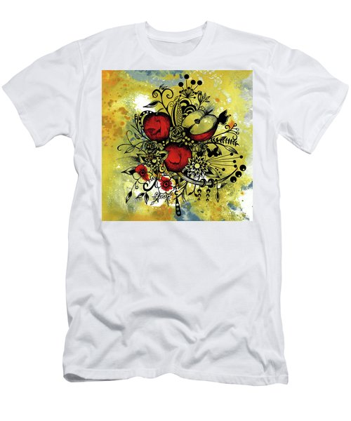 Abstract Acrylic Painting Apples II Men's T-Shirt (Slim Fit) by Saribelle Rodriguez