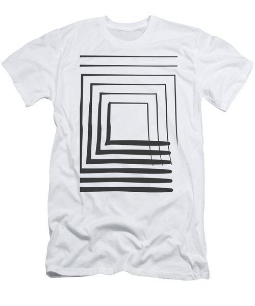 Abstract Art Perspective - Square Men's T-Shirt (Athletic Fit)