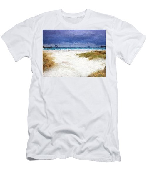 Abstract Beach Horizon Men's T-Shirt (Slim Fit) by Anthony Fishburne