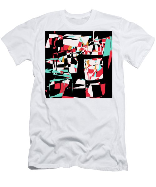 Abstract Boxes Men's T-Shirt (Slim Fit) by Jessica Wright