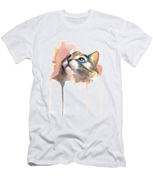 Abstract Cat Portrait Series #02 Men's T-Shirt (Athletic Fit)