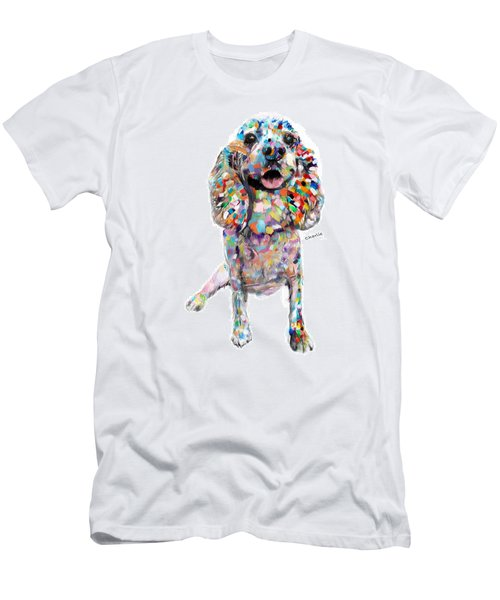Abstract Cocker Spaniel Men's T-Shirt (Athletic Fit)