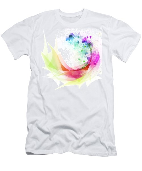 Abstract Curved Men's T-Shirt (Athletic Fit)