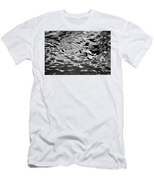Abstract Dock Reflections I Bw Men's T-Shirt (Athletic Fit)