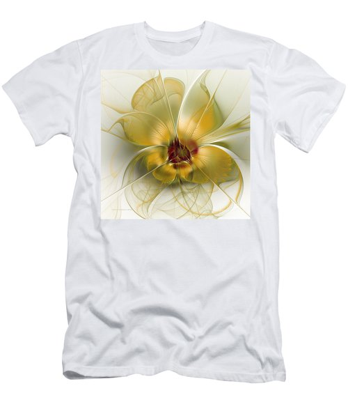 Abstract Flower With Silky Elegance Men's T-Shirt (Athletic Fit)