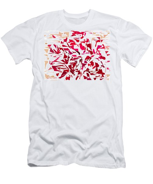 Abstract Geranium Men's T-Shirt (Athletic Fit)