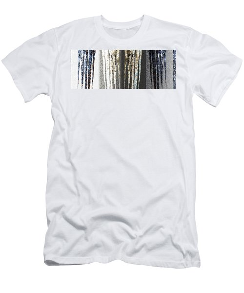 Men's T-Shirt (Slim Fit) featuring the digital art Abstract Icicles by Will Borden