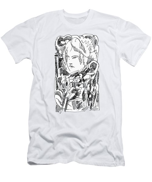 Abstract Ink Drawing Men's T-Shirt (Athletic Fit)
