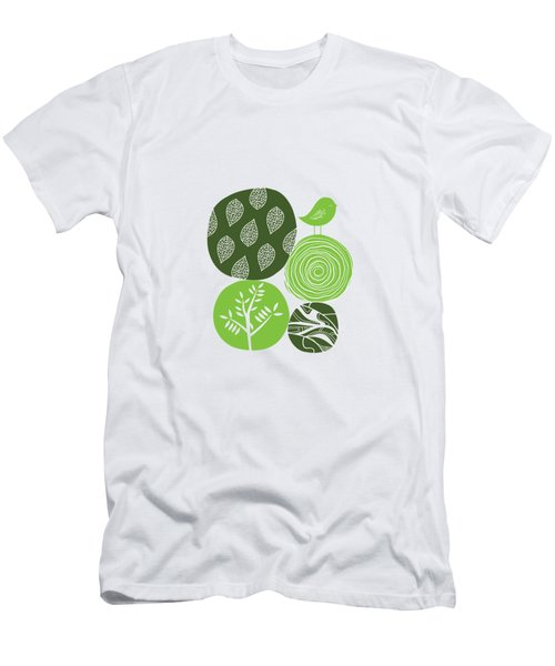 Abstract Nature Green Men's T-Shirt (Athletic Fit)