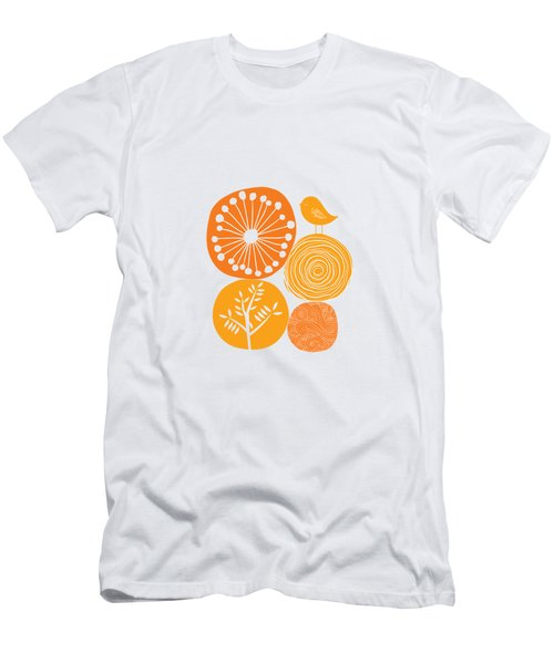 Abstract Nature Orange Men's T-Shirt (Athletic Fit)