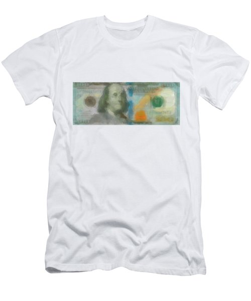 Abstract One Hundred Us Dollar Bill  Men's T-Shirt (Athletic Fit)