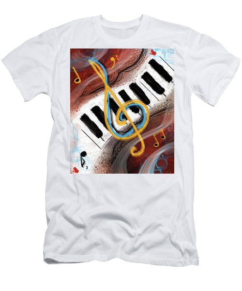Abstract Piano Concert Men's T-Shirt (Athletic Fit)