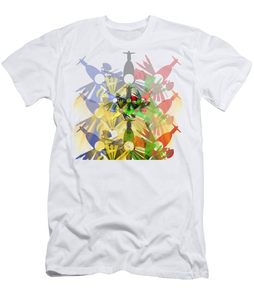 Abstract Rio De Janeiro Men's T-Shirt (Athletic Fit)