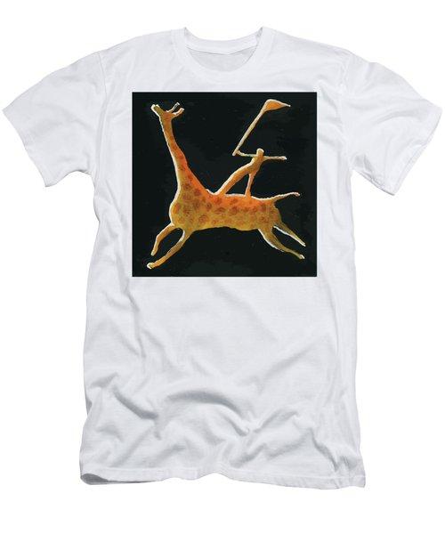 Abstract Giraffe Men's T-Shirt (Athletic Fit)