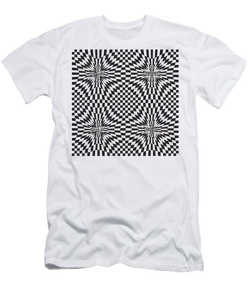 Abstract Vector Pattern Men's T-Shirt (Athletic Fit)