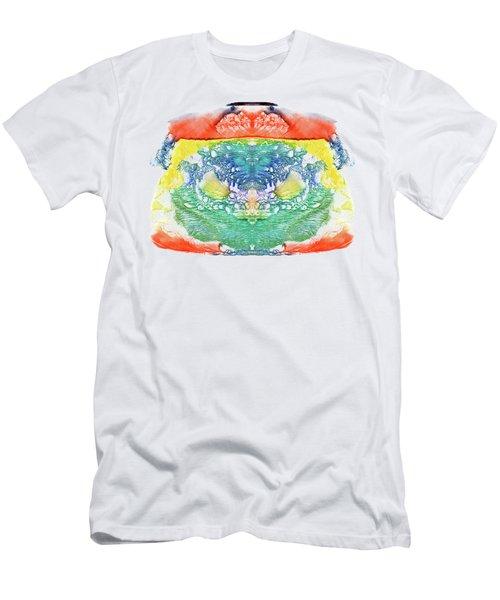 Abstract Watercolors Splatters, Splinter, Blotches, Blots And Bl Men's T-Shirt (Athletic Fit)