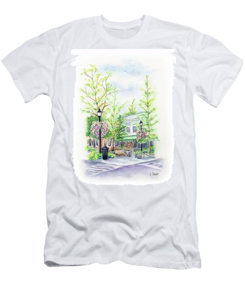 Across The Plaza Men's T-Shirt (Athletic Fit)