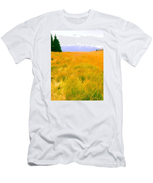 Men's T-Shirt (Slim Fit) featuring the photograph Across The Summer Meadow by Ronda Broatch
