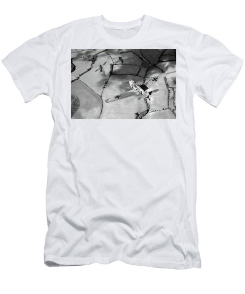 Men's T-Shirt (Athletic Fit) featuring the photograph Adolf Galland Attacking Spitfire Bw Version by Gary Eason