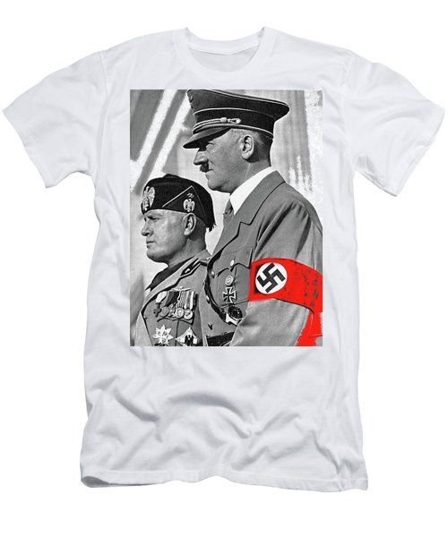 Adolf Hitler And Fellow Fascist Dictator Benito Mussolini October 26 1936 Number Three Color Added  Men's T-Shirt (Athletic Fit)