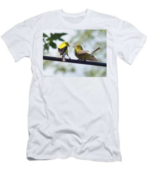 Adult And Juvenile Goldfinch Men's T-Shirt (Athletic Fit)