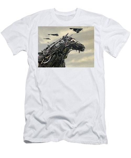 Advance Of The Machines Men's T-Shirt (Slim Fit) by Christopher McKenzie