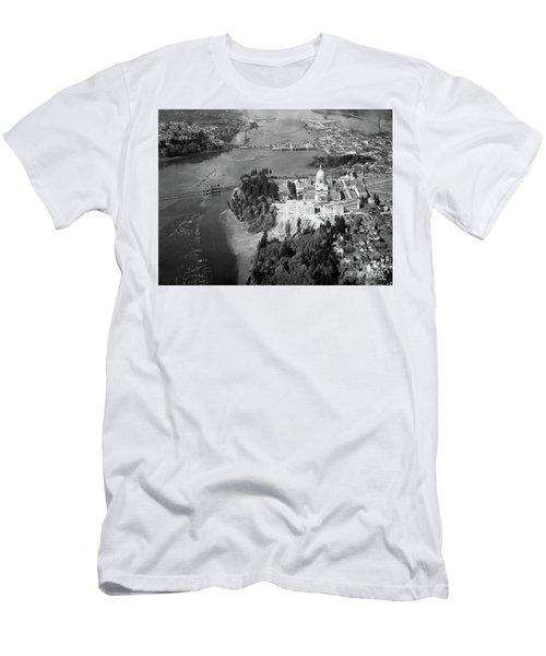 Aerial View Northward Over Olympia Men's T-Shirt (Athletic Fit)