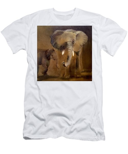 African Elephant Men's T-Shirt (Athletic Fit)