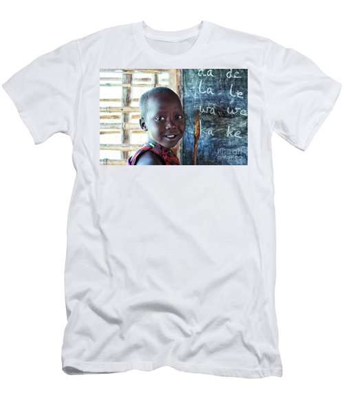 Maasai School Child Men's T-Shirt (Athletic Fit)
