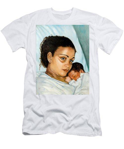 After Birth Jacina And Javon Men's T-Shirt (Slim Fit) by Marlene Book