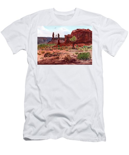 Afternoon In Monument Valley Men's T-Shirt (Slim Fit) by Donald Maier