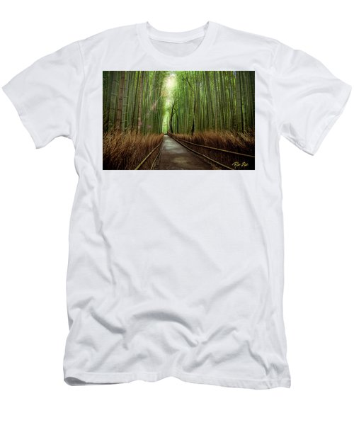 Men's T-Shirt (Athletic Fit) featuring the photograph Afternoon In The Bamboo by Rikk Flohr