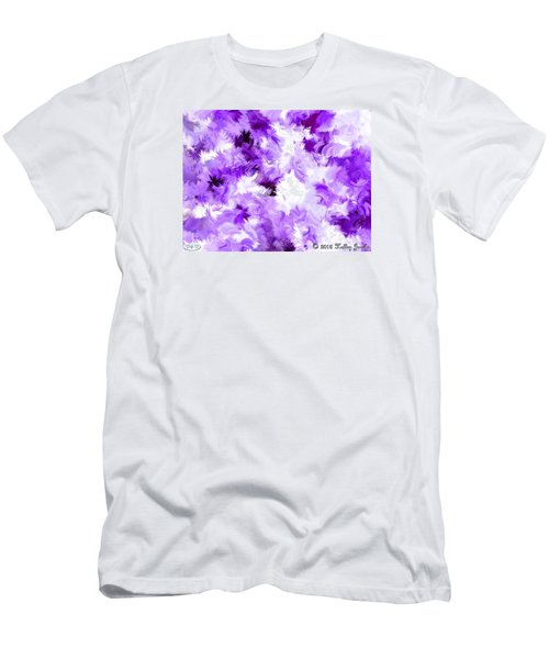 Men's T-Shirt (Slim Fit) featuring the painting Ain't Sweating The Little Things by Holley Jacobs