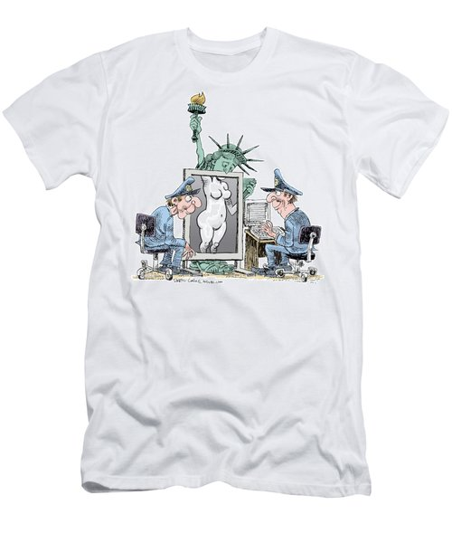 Airport Security And Liberty Men's T-Shirt (Athletic Fit)
