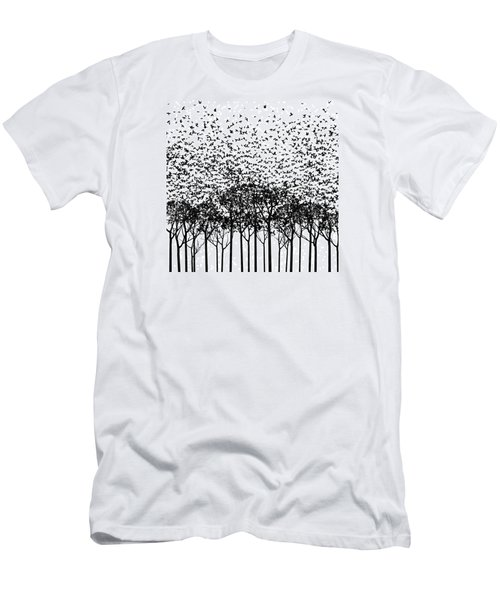Aki Monochrome Men's T-Shirt (Slim Fit) by Cynthia Decker