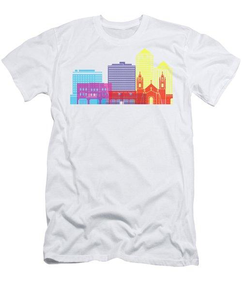 Albuquerque_v2 Skyline Pop Men's T-Shirt (Athletic Fit)