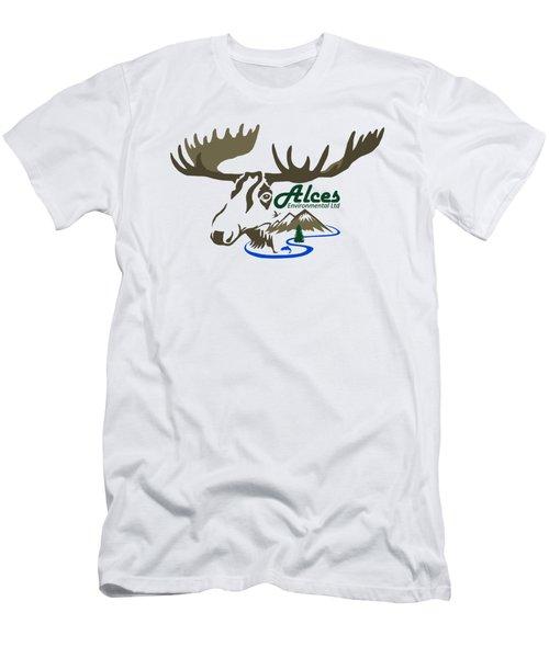 Alces Logo Men Hoodie Men's T-Shirt (Athletic Fit)