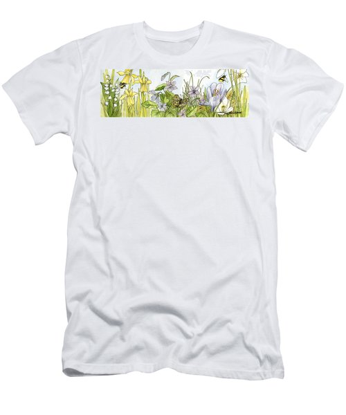 Alive In A Spring Garden Men's T-Shirt (Slim Fit) by Laurie Rohner