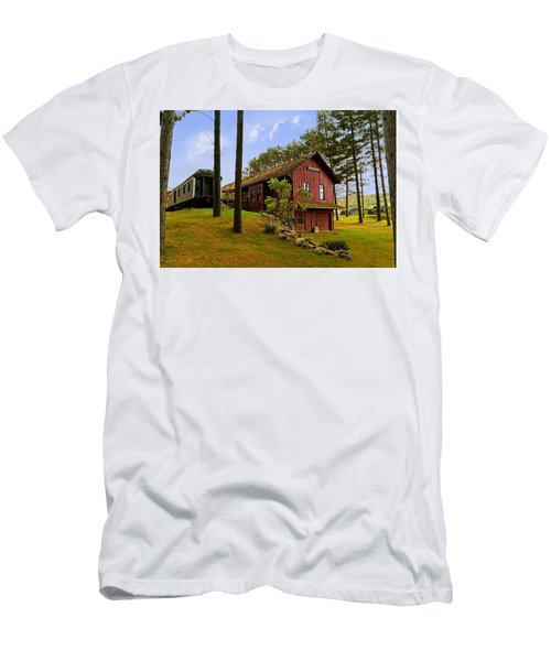All Aboard Men's T-Shirt (Slim Fit) by Judy Johnson