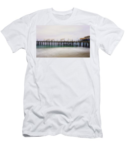 Men's T-Shirt (Athletic Fit) featuring the photograph All Quiet On Redondo Pier by Michael Hope