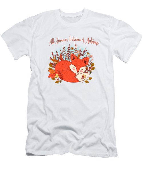 All Summer I Dream Of Autumn Men's T-Shirt (Athletic Fit)