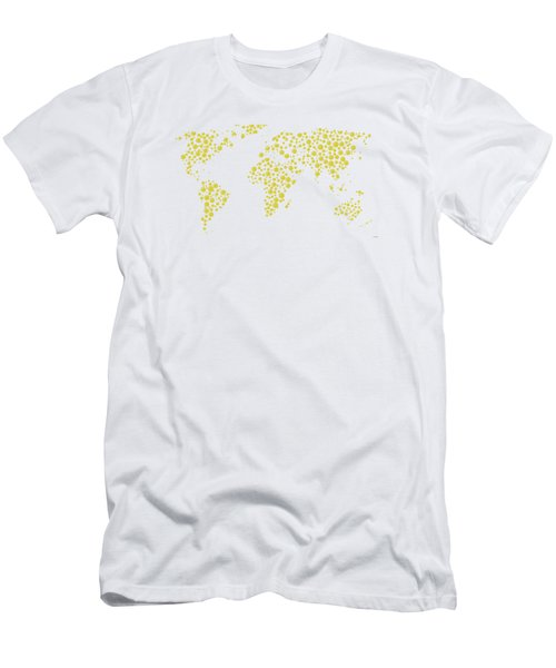 All The World Plays Tennis Men's T-Shirt (Slim Fit) by Marlene Watson