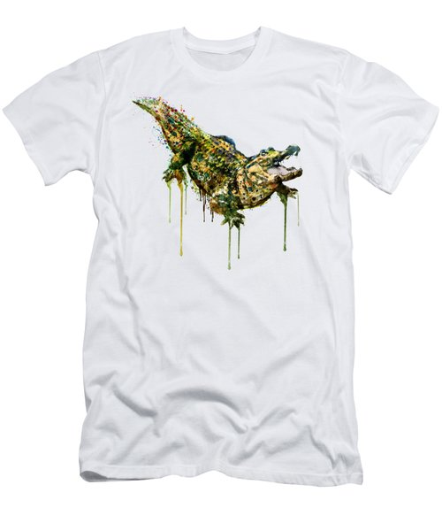 Alligator Watercolor Painting Men's T-Shirt (Athletic Fit)