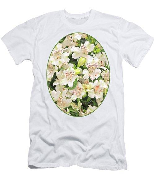 Alluring Alstroemeria - Peruvian Lilies Men's T-Shirt (Slim Fit) by Gill Billington