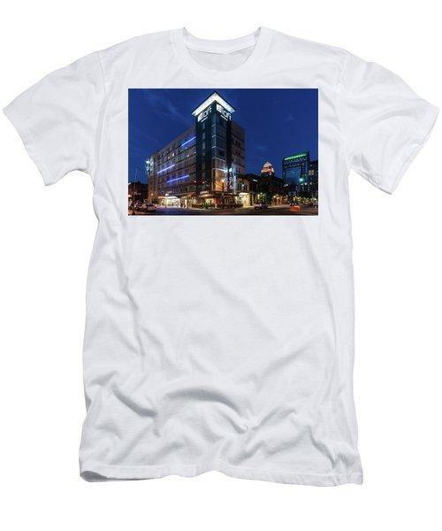 Men's T-Shirt (Athletic Fit) featuring the photograph Aloft Louisville by Randy Scherkenbach