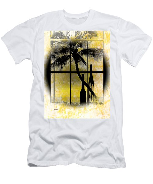 Aloha,from The Island Men's T-Shirt (Slim Fit) by Athala Carole Bruckner